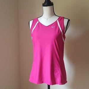 Nike Dri-Fit athletic hot pink tank top L 10